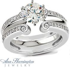 ring guard platinum | ... , Yellow Gold or Platinum 5/8 ct tw Diamond Antique Style Ring Guard