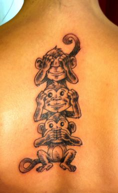 Jurg Poulycrock Tattoo, Bruxelles, Three Monkeys