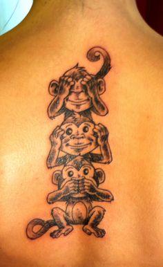 Baby Tattoos For Moms 296252481711932577 - Jurg Poulycrock Tattoo, Bruxelles, Three Monkeys Source by christophesabel Mommy Tattoos, Evil Tattoos, Sister Tattoos, Future Tattoos, Animal Tattoos, New Tattoos, Body Art Tattoos, Sleeve Tattoos, Tattoo Art