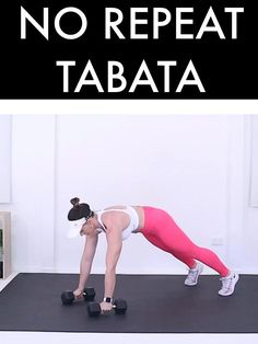 Tabata Workouts, Dumbbell Workout, Quick Workouts, Body Workouts, Cardio, At Home Workout Plan, At Home Workouts, Hiit With Weights, Hiit Program
