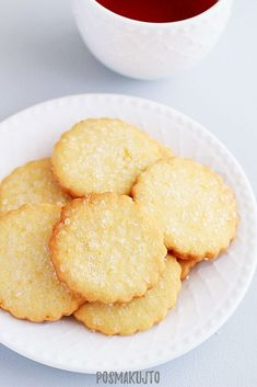 posmakujto!: Maślane ciasteczka cytrynowe Cake Recipes, Snack Recipes, Butter, Chips, Sweets, Cookies, Baking, Food, Crack Crackers