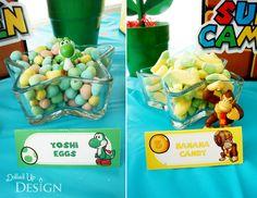 Yoshi Eggs and Donkey Kong Bananas at Super Mario 5th Birthday - DolledUpDesign