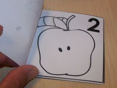 apple books. Use black marker to draw corresponding # of seeds. Then color after checked for accuracy