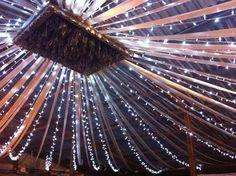 Ceiling of the barn.  barn wedding ideas