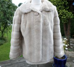 Vintage Faux fur jacket simulated Blonde Mink Label Tissavel Free Uk Shipping by…