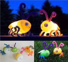 Make these Cute gloing Fireflies to help your kids feel a little bit of magic  #diy #crafts #kids