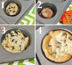 Chocolate-Chip-Reece's-Cup-Cookie-steps