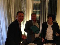 Meeting Mark Alexander at Paris Deco Off. The best linnen we have ever seen!