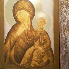 #wip #icon #iconography #byzantineiconography #byzantineicon #eggtempera…