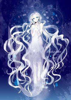anime girl as mermaid