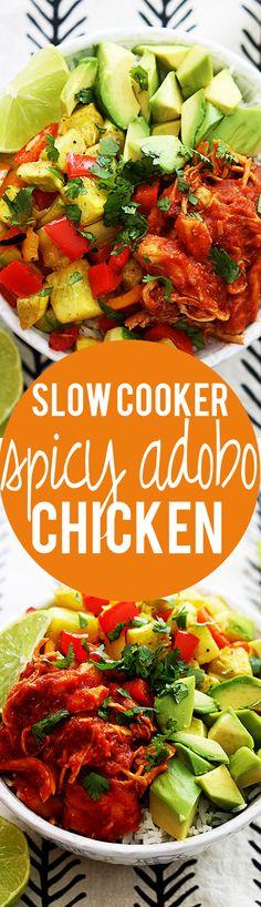 Slow Cooker Spicy Adobo Chicken   Creme de la Crumb