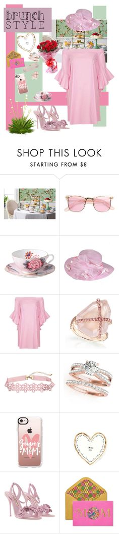 """""""Mothers Day Brunch - VI"""" by mary-kay-de-jesus ❤ liked on Polyvore featuring ZeroUV, Wedgwood, River Island, Casetify, Sophia Webster and Papyrus"""