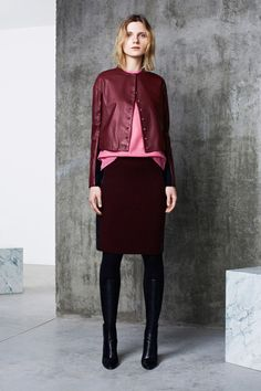 Here's a little story I'd like to tell/about how pink and oxblood get on so well.   Pringle of Scotland | Pre-Fall 2014 Collection | Style.com