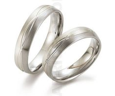 White gold and palladium wedding rings! Day&Night Collection. Verighete Gerstner 28340