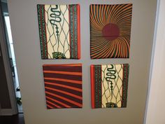 African Print Home/Wall Decor, Ankara Wall Canvas Stretch fabric over a canvas for instant paintings.