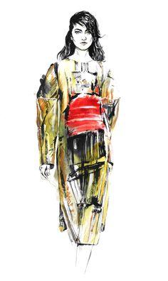 Editorial illustrations. Fashion illustrations. Drawings.