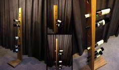 elegant wooden wine stand