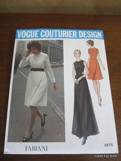 Vogue Pattern 2675 Fabiani Vogue Couturier Design