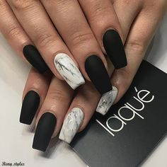 Black matte acrylic nails, black coffin nails, matte gel nails, black gel n Marble Nail Designs, Acrylic Nail Designs, Nail Art Designs, Nails Design, Black Nail Designs, Acrylic Nails Coffin Matte, Matte Gel, Black Coffin Nails, Coffin Acrylics