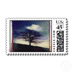 Solitary tree postage stamps!