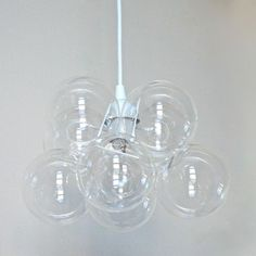 Glass Globe Chandelier now featured on Fab.