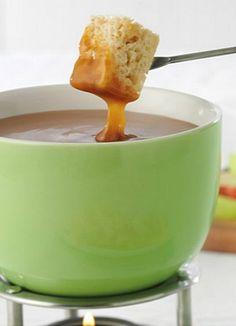 Creamy caramel apple fondue puts the fall in fondue!