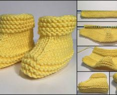 Yellow colored children making booties with visual impressions knitting embroidery videos and lessons Yellow Colored Kids Booties With Pictorial Illustration - hobby sisters This Pin was discovered by Ter baby booties made Baby Booties Knitting Pattern, Knitted Booties, Mittens Pattern, Crochet Baby Booties, Baby Knitting Patterns, Baby Boy Booties, Unique Boots, Crochet Socks, Pulls