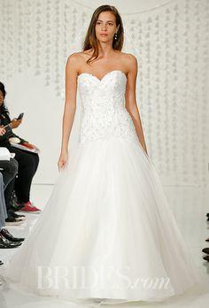 A classic strapless @watterswtoo wedding dress | Brides.com