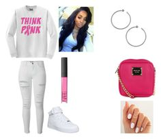 """""""#jessie"""" by foreveryoug ❤ liked on Polyvore featuring Frame Denim, Michael Kors, NARS Cosmetics, MICHAEL Michael Kors and NIKE"""