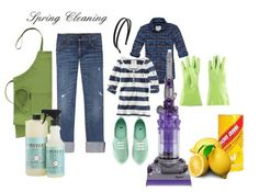 I love that someone put together an outfit for Spring Cleaning...