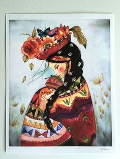 This print is from my original watercolor, by Claudia Tremblay Please select a size in the options above. I use a heavy weight archival and acid free high quality Mother Art, Mother And Child, Art Péruvien, Illustrations, Illustration Art, Claudia Tremblay, Peruvian Art, Mexican Art, Art Plastique