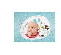 """Baby & Geburt - Karte zur Geburt """"Blumen"""" - ein Designerstück von Wdrei10 bei DaWanda"""