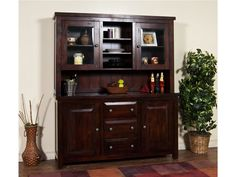 Fireside Lodge Hickory Buffet With Hutch Finish