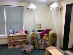 Early years reception reading corner area