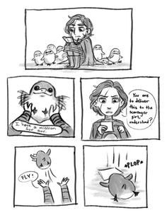 """space-trash-princess: """" Carrier Porgs part 1 @wrathofkylo7 part 2 will be posted tomorrow. For now I need sleep """" Part 2:"""