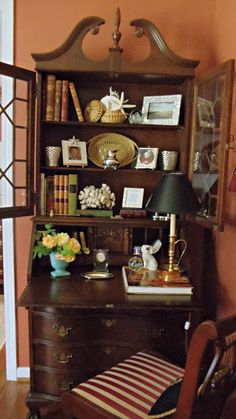Upstairs Downstairs: Changing the Secretary, Again Traditional Decor, Traditional House, Painted Furniture, Home Furniture, Rustic Furniture, Antique Furniture, Modern Furniture, Furniture Outlet, Outdoor Furniture