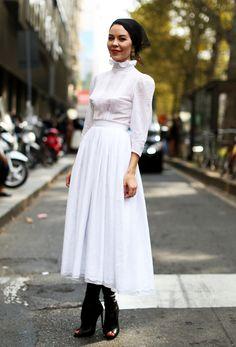 Ulyanna at Milan Fashion Week Spring 2014.