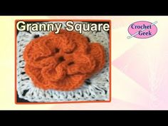 ▶ CROCHET GRANNY SQUARE Jasmine Free Crochet Pattern Crochet Geek - YouTube