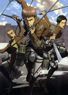 Shingeki no Kyojin, Jean Kirschstein, Conny Springer and Marco Bodt