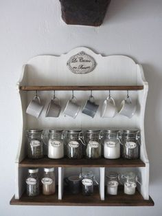 cup and spices rack