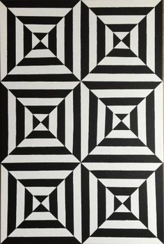 "Artist: Dominic Joyce; Acrylic 2016 Painting ""Original Op-Art Geometric Canvas…"