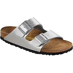 133ba93e799 BIRKENSTOCK Arizona Soft Footbed Silver Birko-Flor in all sizes ✓ Buy  directly from the manufacturer online ✓ All fashion trends from Birkenstock