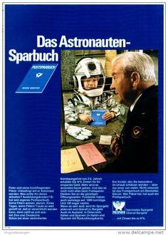 Original-Werbung/ Anzeige 1969 - POSTSPARBUCH DAS ASTRONAUTEN - SPARBUCH / DEUTSCHE BUNDESPOST - ca. 180 x 240 mm