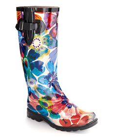 Look at this Nomad Footwear Blue Floral Drench Rain Boot on #zulily today!