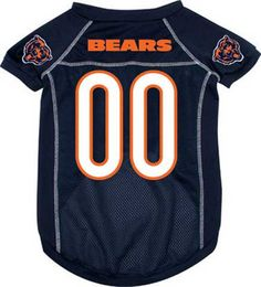 Does your pooch ready for the games?? Check our jersey of most teams. Chicago Bears Dog Jersey