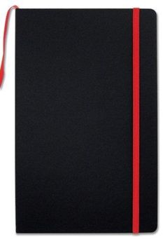 """BookFactory Black Journal / Writing Notebook / Blank Diary / Lined Pages Book - 192 Pages 5.25"""" x 8.27 Banded Journal Hardbound Bookmark (JOU-192-CCS-K)"""