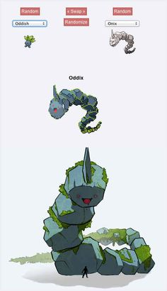 Oddix | 43 Pokemon Mash-Ups That Are Better Than The Real Thing