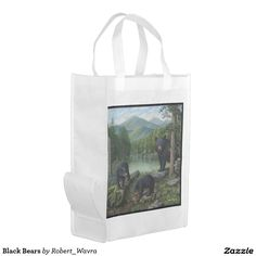 Black Bears Market Totes
