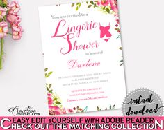 Lingerie Shower Invitation Bridal Shower Lingerie Shower Invitation Spring Flowers Bridal Shower Lingerie Shower Invitation Bridal UY5IG #bridalshower #bride-to-be #bridetobe