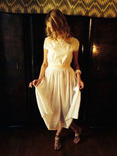 Nymph Dress/Vintage 70's White Cotton by LydiaLoveVtg on Etsy